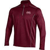 Under Armour Men's Mississippi State Bulldogs Maroon/Grey Validate Quarter-Zip Shirt