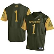 Under Armour Men's Notre Dame Fighting Irish Green #1 Shamrock Series Jersey