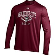 Under Armour Men's New Mexico State Aggies Maroon Long Sleeve Tech T-Shirt