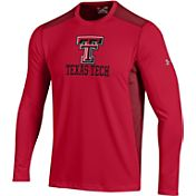 Under Armour Men's Texas Tech Red Raiders Raid Performance Long Sleeve Red T-Shirt