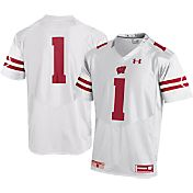 Under Armour Men's Wisconsin Badgers #1 Replica White Football Jersey