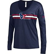 Under Armour NFL Combine Authentic Women's Houston Texans Team Stripe Navy Long Sleeve Shirt