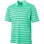 Walter Hagen Men's Essentials Textured Wide Stripe Golf Polo