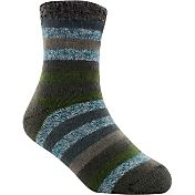 Yaktrax Youth Cozy Cabin Stripe Crew Socks
