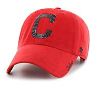 '47 Women's Cleveland Indians Sparkle Clean Up Red Adjustable Hat