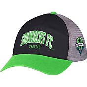 adidas Men's Seattle Sounders Navy/Green Mesh Back Adjustable Hat