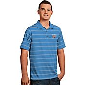 Antigua Men's Oklahoma City Thunder Deluxe Light Blue Striped Performance Polo