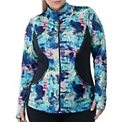 Rainbeau Curves Women's Plus Size Marisa Print Zip-Up Jacket