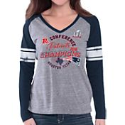 G-III for Her Women's AFC Champions New England Patriots Raglan Navy Long Sleeve Shirt