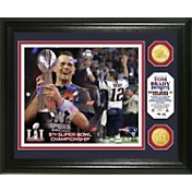 Highland Mint Super Bowl LI Champions New England Patriots Tom Brady Trophy Bronze Coin Photo Mint