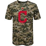 Majestic Youth Cleveland Indians Cool Base Digi Camo Performance T-Shirt