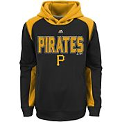 Majestic Youth Pittsburgh Pirates Therma Base Geo Fuse Black Hooded Fleece