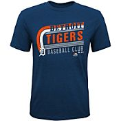 Majestic Youth Detroit Tigers Tri-Blend Curveball Navy T-Shirt