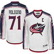 Reebok Men's Columbus Blue Jackets Nick Foligno #71 Premier Replica Away Jersey