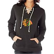Soft As A Grape Women's Chicago Blackhawks Hockey Black Pullover Hoodie
