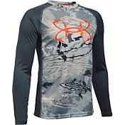 Under Armour Boys' Fish Tech Long Sleeve Shirt